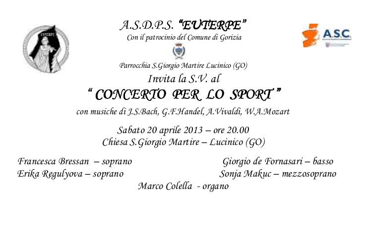 Concerto per lo sport banner