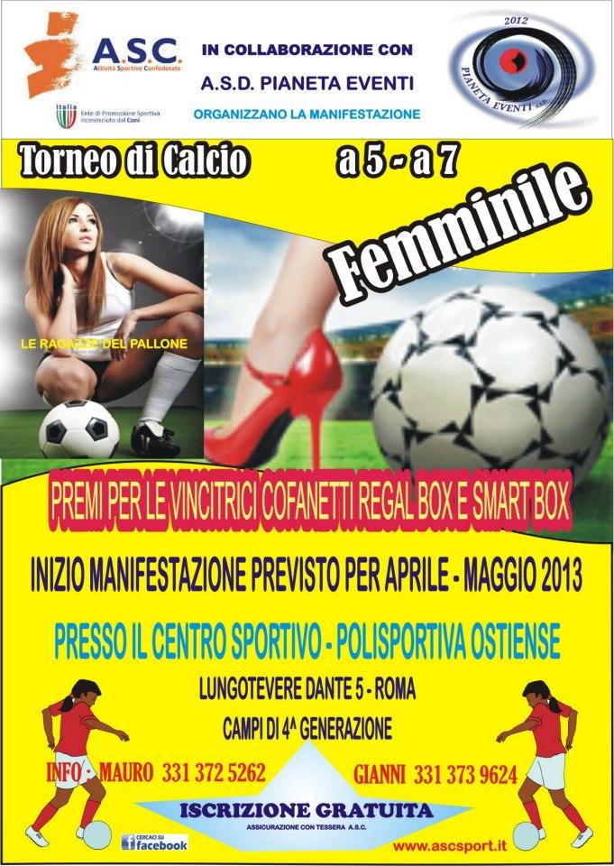 calcio a 5 e 7 femmininile ASC