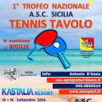 1° Trofeo Nazionale Tennis Tavolo Sicilia