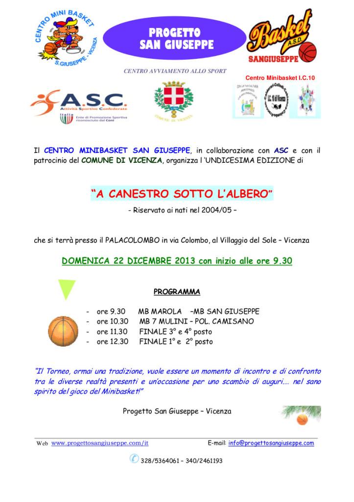 A CANESTRO SOTTO L'ALBERO 2013 - LOCANDINA 1