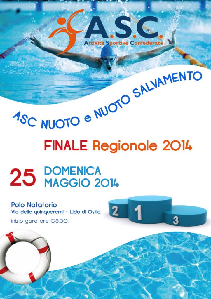 locandina finale regionale nuoto e nuoto salvamento