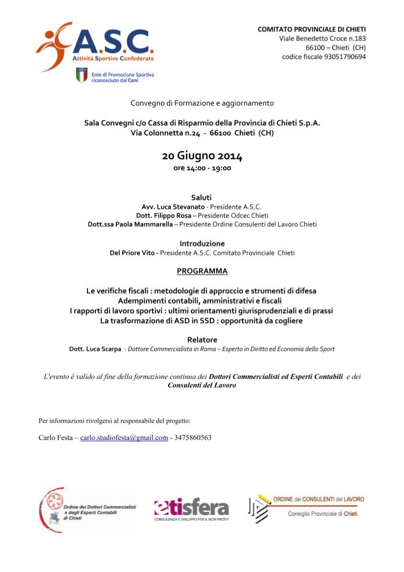 convegno sport 20-06-14 ASC Chieti
