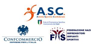 Logo ASC FIIS e CONfcommercio