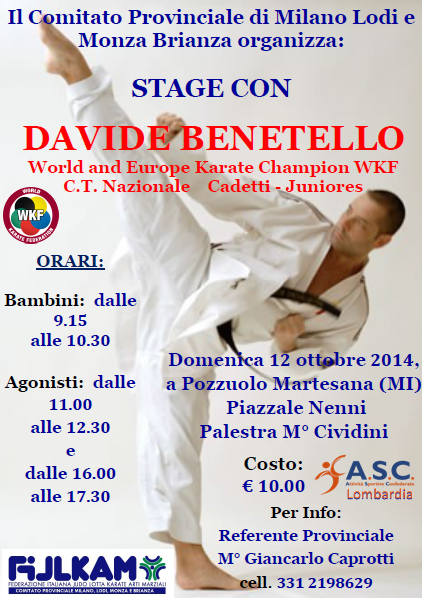 Stage Karate Benetello