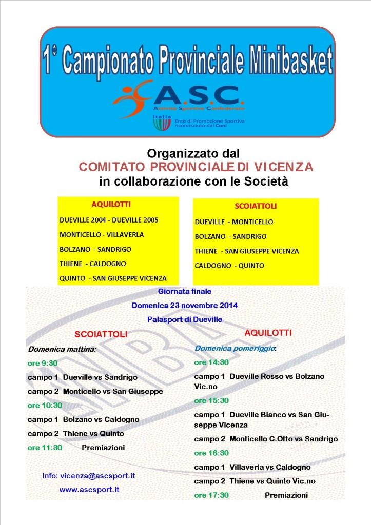 Campionato Provinciale Mini basket ASC - Vicenza