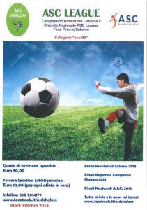 Calcio Amatoriale a 5 Provinciale  Salerno