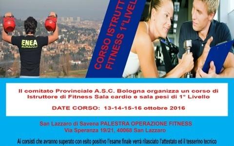 CORSO DI ISTRUTTORE DI FITNESS 1° LIVELLO A.S.C.