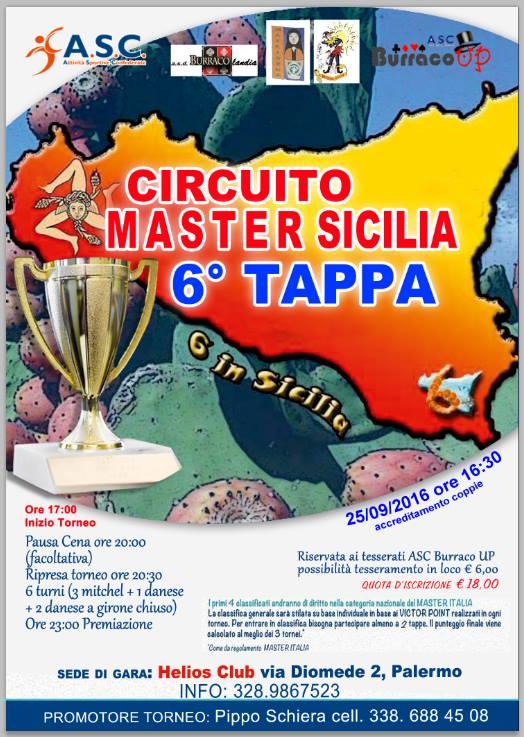 master sicilia 6 tappa