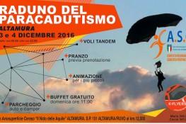 A S C PUGLIA  1 RADUNO DI PARACADUTISMO -          3 e 4 DICEMBRE 2016 -     Aviosuperficie Altamura  Ceraso