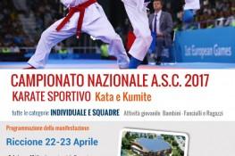 Campionato Nazionale Karate Sportivo A S C  2017