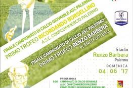 Finale del campionato di calcio giovanile A S C  Palermo      Primo Trofeo  Ricordando Borsellino