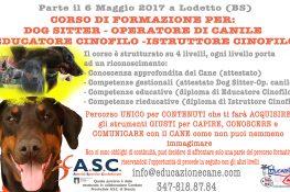 CORSO Operatore e Istruttore CINOFILO - A S C  Brescia