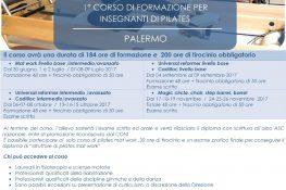 1   CORSO DI FORMAZIONE A S C  PER INSEGNANTI DI PILATES