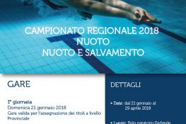 Campionato Regionale 2018 ASC Lazio NUOTO - NUOTO E SALVAMENTO