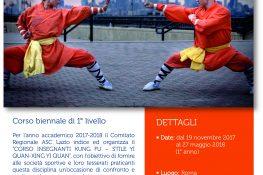 Corso Kung Fu stile Yi Quan Xing Yi Quan ASC Lazio