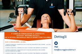 1   corso di formazione di assistente attivit   motoria di sala ASC Reggio Calabria