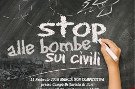 ASC BARI  Marcia Sport  amp  Sociale  STOP ALLE BOMBE SUI CIVILI