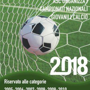 ASC organizza i Campionati Nazionali Giovanili Calcio 2018