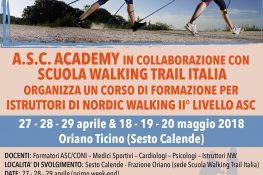 Corso di Formazione per istruttori di Nordic Walking II livello ASC