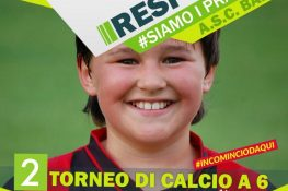 Torneo ASC BARI di calcio a 6  CHILDREN  Campagna sociale RESPECT INCOMINCIO DA QUI