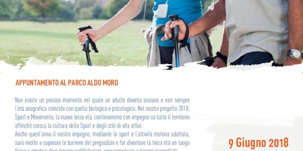 SPORT E MOVIMENTO La Nuova Terza Età – Appuntamento al Parco Aldo Moro