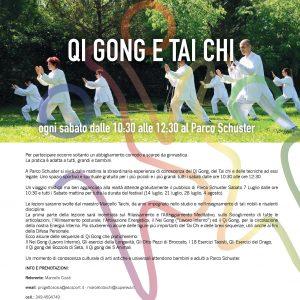 Progetto SOSIA – QI GONG E TAI CHI al Parco Schuster