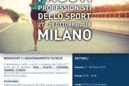 Workshop di aggiornamento tecnico  I nuovi professionisti dello sport  ASC LOMBARDIA