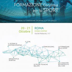 CORSO FORMATORE REGIONALE – Formazione Continua per lo Sport