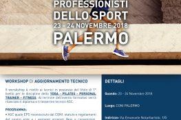 Workshop di aggiornamento tecnico  I Nuovi professionisti dello sport  ASC SICILIA