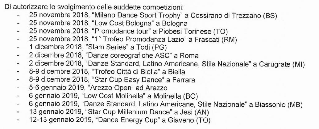 Calendario Fids.Calendario Gare Asc Danza Approvato Fids Asc Sport