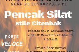 Corso Istruttore di Pencak Silat scuola Citenbak ASC SICILIA