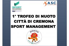 1   Trofeo di Nuoto Citt   di Cremona ASC-SPORTMANAGEMENT
