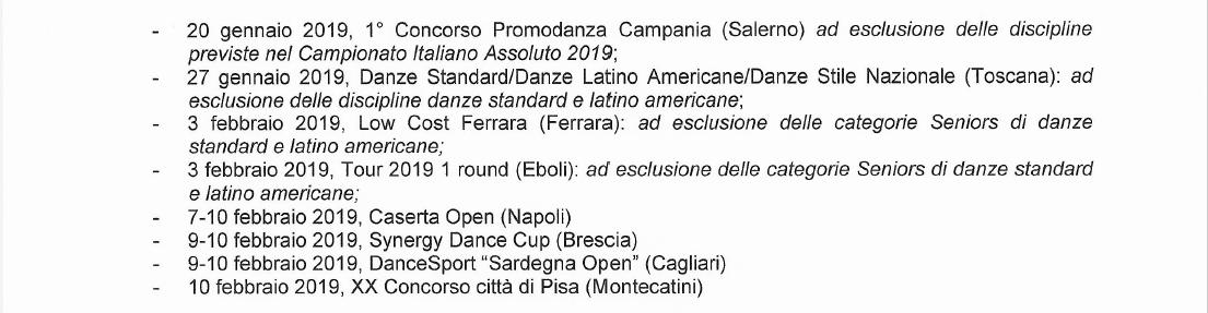Calendario Fids.Calendario Gare Asc Danza Approvato Fids