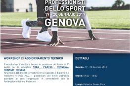 Workshop di aggiornamento tecnico  I nuovi professionisti dello sport  ASC GENOVA