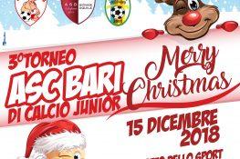3   Torneo ASC BARI di Calcio Junior  Merry Christmas -Bari 15 Dicembre 2018
