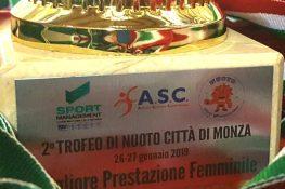 """Seconda edizione del trofeo di nuoto """"Città di Monza"""" ASC-SPORT MANAGEMENT"""