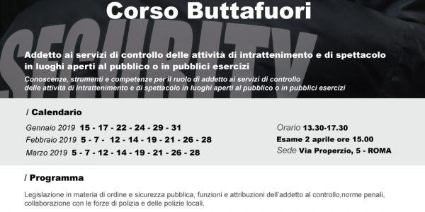 Corso per Buttafuori ASC – Promo.ter