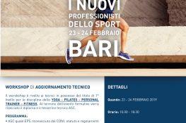 Workshop di aggiornamento tecnico  I nuovi professionisti dello sport  ASC BARI