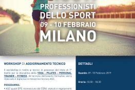 Workshop di aggiornamento tecnico    I nuovi professionisti dello sport    ASC MILANO