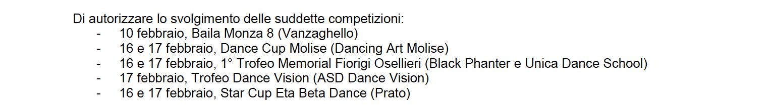 Fids Calendario.Calendario Gare Febbraio Marzo Asc Danza Approvato Fids