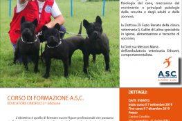 CORSO DI FORMAZIONE EDUCATORE CINOFILO - ASC Academy Lazio
