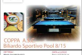 Torneo di Biliardo Sportivo specialit   POOL 8 15 ASC LAZIO