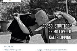 Corso istruttore primo livello KALI FILIPPINO ASC BOLOGNA