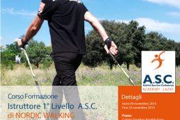 Corso Istruttore 1   Livello NORDIC WALKING ASC ACADEMY LAZIO