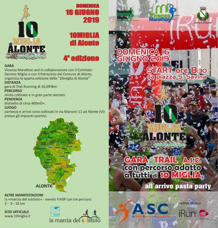 Calendario Marce Fiasp Vicenza 2019.4 Edizione 10 Miglia Di Alonte Asc Vicenza