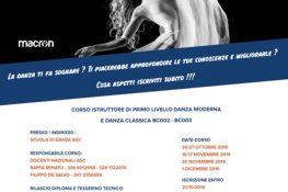 Corso Istruttore 1   Livello Danza Moderna e Danza Classica ASC REGGIO CALABRIA