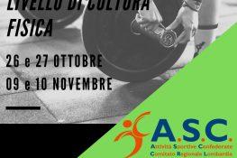 Corso Istruttori 1   Livello CULTURA FISICA ASC MILANO
