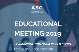 EDUCATIONAL MEETING 2019 - Formazione Continua per lo Sport