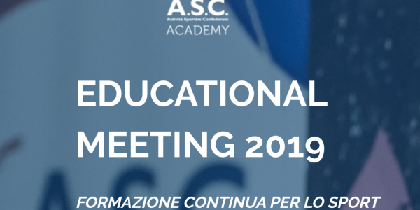 EDUCATIONAL MEETING 2019 – Formazione Continua per lo Sport