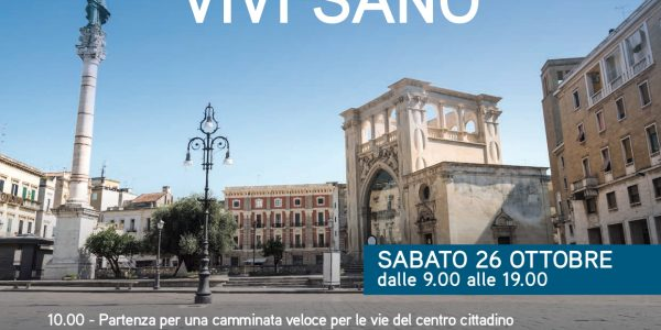 IMPARA LE REGOLE. VIVI SANO. Piazza della Salute